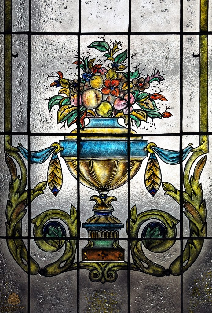 Vitralii Si Mozaic Classic Stained Glass Flowers Vase Vitralii Si